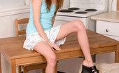 Nubiles Harmony Seductive Brunette Teen Hottie In Floral Skirt Loves Flirting On The Table