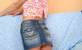 Nubiles Sue Hot Teen Sue In Nice Jean Skirt Teasing You With Her Sweet Smile And Sexy Poses