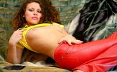 Nubiles Ditty 244811 Pervert Amateur Bitch Ditty Arousing Herself By Fingering Her Juicy Pink Snatch On The Sofa