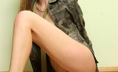 Nubiles Kesia Alluring Teen In Military Outfit Showing Her Tiny Tits And Tight Pussy