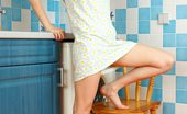 Nubiles Viktoria Pretty Amateur Teenie Viktoria Gets Naked And Gently Squeezing Her Juicy Tits In The Kitchen