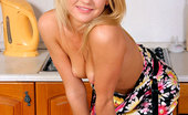 Nubiles Valentina Tempting Babe Erotically Shows Her Perfect Cute Titties In The Kitchen