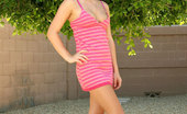 Nubiles Melissa 245256 Blonde Nymph Melissa Slides Up Her Dress Outdoors To Show Off Her Sexy Pink Panties