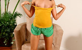 Nubiles Marina Alluring Teen Slides Off Her Sexy Shirt And Proudly Showing Her Tight Nipples