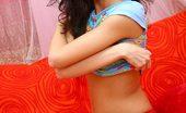 Nubiles Dinara Leggy Teen Dinara Spreads Her Long Smooth Legs And Then Strips Her Short