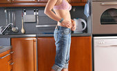 Nubiles Ash Beautiful Brunette Removes Clothes To Reveals Her Sexy Underwear On Kitchen