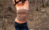 Nubiles Veronika Perfect Curve Body Wearing Sunglass Teasing Good On The Woodland