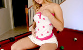 Nubiles Vixxen Fresh And Alluring Vixxen Ready To Strip All Of Her Clothes On Top Of The Billiard Table