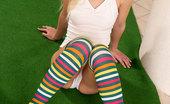 Nubiles Kira 246672 Leggy Blonde Babe Kira Posing And Spreading Her Slender Legs