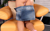 Nubiles Candy Dreamy Hungarian Teen Shows Round Butt While Removing Down Her Denim Skirt