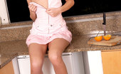 Nubiles Angie Hot Teen Pulls Down Her Dress On Kitchen To Shows Her Nice Curved Body For You