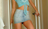 Nubiles Nadine Hot Teen Slowly Sliding Off Her Tops And Displaying Her Arousing Black Bra