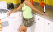 Nubiles Reena Fresh Tanned Skin Reena Enjoys Teasing At The Kitchen Counter