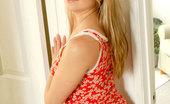 Nubiles Marlie Teen Marlie Pulls Down Her Jeans Exposing A Red Nice Alluring Panties