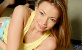 Nubiles Maya 247268 Wet Teen Spreading Her Legs Wide Open And Showing Her Yellow Panty