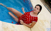Nubiles Florencia Cute Pretty Model Holds Red Roses With A Nice Alluring Smiles