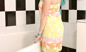 Nubiles Mel Sweet Teen Amateur Gently Squeezing Her Delicious Bosoms In The Bathtub