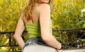 Nubiles Tawnee Sweet Beautiful Teen Standing Outdoor Flaunting Lovely Cute Upskirt Panty