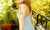Nubiles Tawnee Pretty Brunette Teens Holding Her Tight Body With A Smile In Front Of Camera