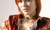 Nubiles Natasha Horny Redhead Teenie Let Her Blouse A Bit Open To Show Her Cleavage