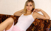 Nubiles Katrina Katrina At Home In Sheer Fitted Tops And Skirt Showing Her Long Luscious Legs