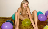 Nubiles Katrina Katrina Comfortably Playing Naked With This Lovely Colorful Balloons