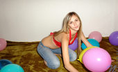 Nubiles Katrina Katrina Caught Blowing And Playing Colorful Balloons Then Reveals Her Panty