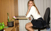 Nubiles Katrina Loveable And Charming Katrina In Hot Secretary Looking Poses On Clerical Chair
