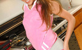 Nubiles Angel Alluring Teen Flaunting Her Tits And Shaved Pussy On The Kitchen