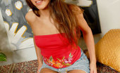 Nubiles Angel Barely Legal Teen Undressing And Showing Her Tits And Shaved Pussy