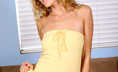 Nubiles Carli Charming Brunette In Lovely Yellow Dress And High Heels Makes Me Amazed