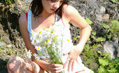 Nubiles Kristen After Pickling Exotic Flower In Island Kristen Uncovers Her Red Sheer Undies