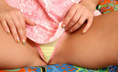 Nubiles Chesire College Teen Wearing Cute Yellow Panties Holding Her Tight Pussy