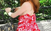 Nubiles Ruby Cute Girl Next Door Ruby In Floral Dress Posing Pantyless On Terrace On Camera