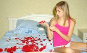 Nubiles Katrina Teen Hottie Blushing After Receiving Some Red Roses From A Secret Admirer