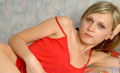Nubiles Kirsten Adorable Teen Wearing Hot Red Panty Posing In Her Bed