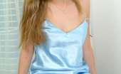 Nubiles Kirsten Cover Girl Wearing All Blue And Posing In Her Room