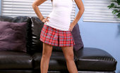 Nubiles Crissy Loveable Barely Legal Teen In Plaid Miniskirt Teasing Nice Indoors