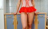 Nubiles Tamara Sexy Stunner Leans On The Counter And Shows Her Perfect Teenie Ass