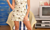 Nubiles Libby Teen In Sundress Pulls Her Dress Up To Show Underwear Cotton Panties