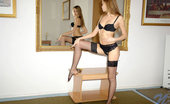 Nubiles Katrina Pantyhose Nubile Babe Smoking Nude In Front Of A Wide Mirror