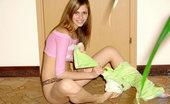 Nubiles Katrina Flexible Model In Pink Posing Acrobatic And Teasing Me Off