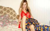 Nubiles Katrina Stunning Brunettte Strips Off In Her Bed Showing Figure Perfect Teen Body