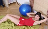 Nubiles Katya Sexy Teenie Gets Topless And Tired After A Lengthy Exercise