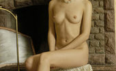 Nubiles Adel Such A Cute Adel Is Brunette And Small Pointy Nipples On Her Tiny Tits