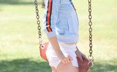 Nubiles Tabitha Cute Teen Tabitha Has Some Fun On The Swings Flashing And Peeking Out Her Small Cute Boobies Too