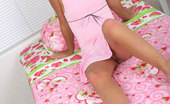 Nubiles Tresseme Sweet Teen Sits At Home In All Pink Smiling And Playing She Is Really Cute By The Way