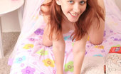 Nubiles Smokie Red Head Hottie Smokie Covers Herself In A Sheer Veil From The Bed Nude Underneath