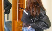 Nubiles Dee Girl Next Door Shows How Tough She Is In Black