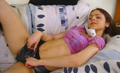 Nubiles Dee Teen Chats On The Phone While Rubbing Herself